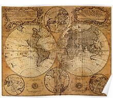 World Map 1736 Poster