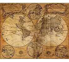World Map 1736 Photographic Print