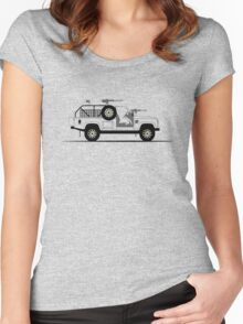 A Graphical Interpretation of the Defender 110 XD E-WMIK Women's Fitted Scoop T-Shirt