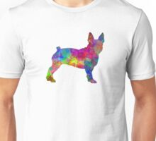 Boston Terrier 01 in watercolor Unisex T-Shirt