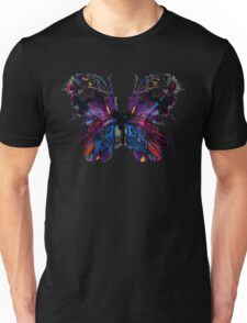 Colored butterfly build with flowers leaves and feathers Unisex T-Shirt