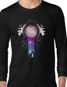 Colourfull magic hands on crystal ball wizard and witch art Long Sleeve T-Shirt