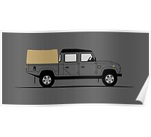 A Graphical Interpretation of the Defender 130 Double Cab High Capacity Pick Up Poster