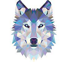 Polygonal Dire Wolf Photographic Print