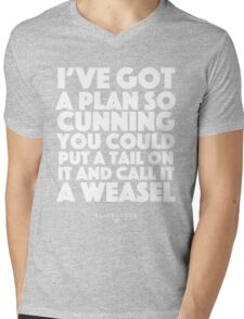Blackadder quote - I've got a plan so cunning you could put a tail on it and call it a weasel Mens V-Neck T-Shirt