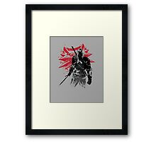 The Witcher Sumi-e Framed Print