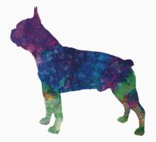 Boston Terrier 02 in watercolor Kids Tee