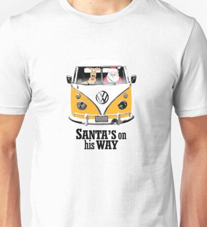 VW Camper Santa Father Christmas On Way Orange Unisex T-Shirt