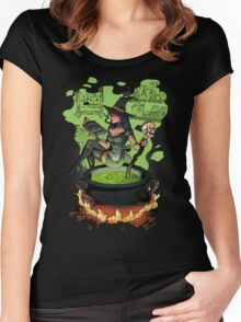 Cooking with a witch Women's Fitted Scoop T-Shirt