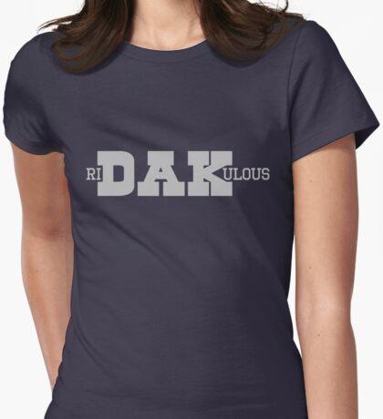 Ri-DAK-ulous (Silver) Womens Fitted T-Shirt