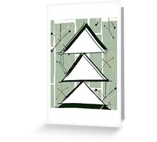 A Vintage Christmas - Green and White Greeting Card