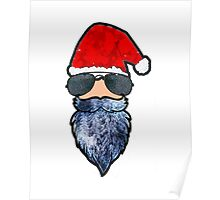Cool Guy Santa Claus Poster