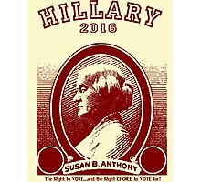 Susan B. Anthony casts her vote for...Hillary! Photographic Print