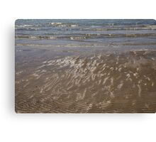 Painted by Sun and Waves - a Natural Abstract on the Beach Canvas Print