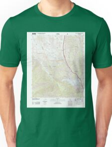 USGS TOPO Map California CA Black Mountain 20120402 TM geo Unisex T-Shirt