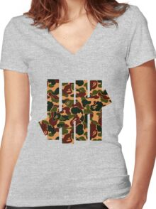 Undefeated x Bape Women's Fitted V-Neck T-Shirt