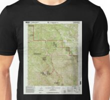 USGS TOPO Map California CA Chews Ridge 100013 1995 24000 geo Unisex T-Shirt