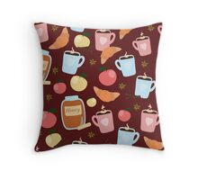 Cozy little things Red Throw Pillow