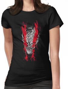 Hollow Mask Womens Fitted T-Shirt