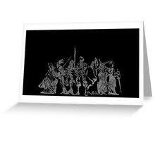 °FINAL FANTASY° Final Fantasy Tactics B&W Logo Greeting Card