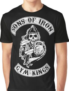 Sons of Iron Gym Kings Bodybuilding Fitness Graphic T-Shirt