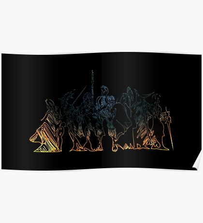 °FINAL FANTASY° Final Fantasy Tactics Neon Logo Poster