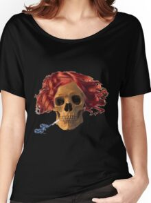 skull, cigarette, death, smoking kills Women's Relaxed Fit T-Shirt