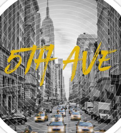 Graphic Art NYC 5th Avenue Sticker