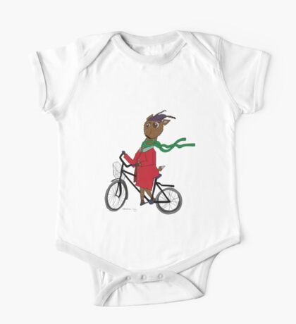 Diego the Deer Rides his Bicycle One Piece - Short Sleeve