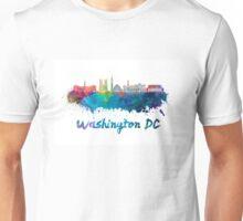 Washington DC V2 skyline in watercolor Unisex T-Shirt