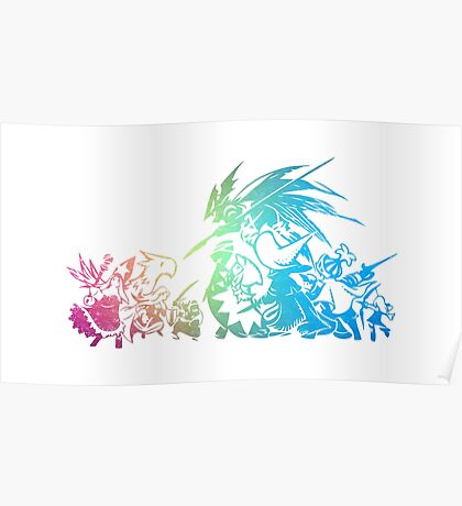 °FINAL FANTASY° Final Fantasy Tactis TWOTL Rainbow Logo Poster