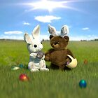 Easter Bunny & Teddy by imaginecgimages