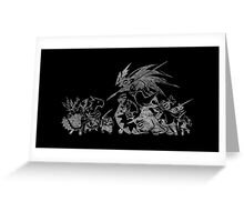 °FINAL FANTASY° Final Fantasy Tactics TWOTL B&W Logo Greeting Card