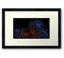 °FINAL FANTASY° Final Fantasy Tactics TWOTL Neon Logo Framed Print