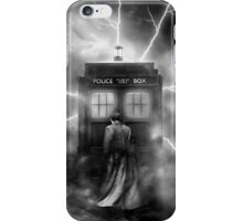 Ligtning Into The Public Police Call Box iPhone Case/Skin