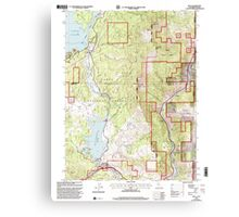 USGS TOPO Map California CA Boca 100569 2000 24000 geo Canvas Print