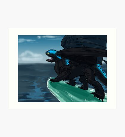 Defender of Berk - Alpha Toothless Art Print