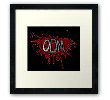 ODM Logo - Black Framed Print
