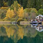 Weissensee in fall colors by Arie Koene