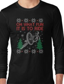 Cycling Christmas Long Sleeve T-Shirt