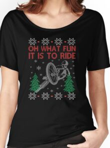 Cycling Christmas Women's Relaxed Fit T-Shirt
