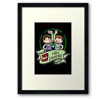 Team Nice Dynamite YEAHYUH Framed Print