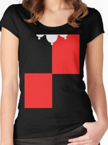 Classic Harley Quinn Suit Women's Fitted Scoop T-Shirt