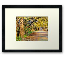 Where We Going?,...Down the road Framed Print
