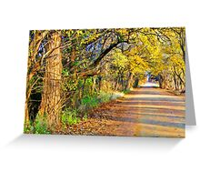 Where We Going?,...Down the road Greeting Card