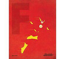The Flash - Superhero Minimalist Alphabet Print Art Photographic Print