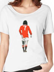 Gorgeous George Best Tribute Manchester United No.7 Women's Relaxed Fit T-Shirt