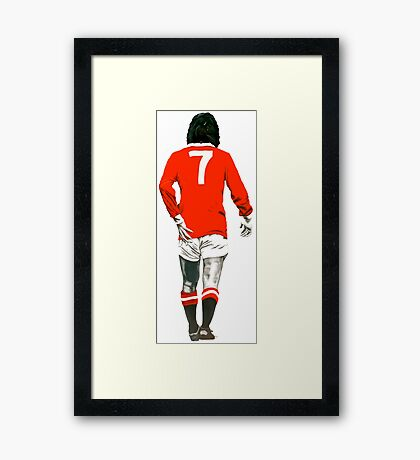 Gorgeous George Best Tribute Manchester United No.7 Framed Print