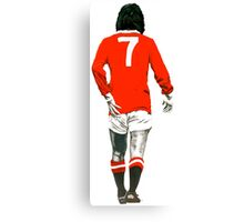 Gorgeous George Best Tribute Manchester United No.7 Canvas Print