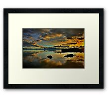 Golden Mirror of Nature Framed Print
